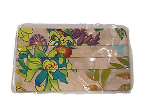 Johnny Was Cotton Sateen Face Mask Flower Floral Multicolor Pattern Light