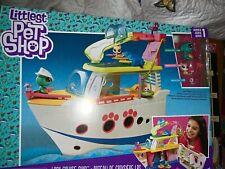 Littlest Pet Shop LPS Cruise Ship Playset, Pet Figure Toys For Kids