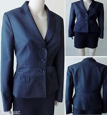 NWT$129 Ann Taylor Loft! All-Season Wool Blend Black Pinstripe Blazer, 8/10
