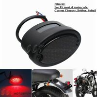 12V LED Tail Light Cat Eye Rear Lamp Brake Taillight For Harley Softail Fatboy