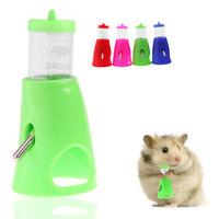 2 in 1 Hamster Water Bottle Holder Dispenser With Base Hut Small Pet Nest 80 ML