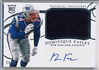 DOMINIQUE EASLEY- 2014 National Treasures True Rookie Patch Auto /99 Patriots RC