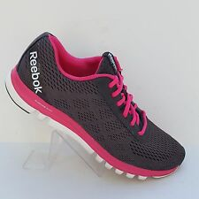 Reebok Sublite Duo Athletic Running Shoes Womens Size 10 Dark Gray Pink