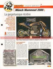 MÜNCH Mammouth 2000 Mammut 2006 Joe Bar Team Fiche Moto #005516