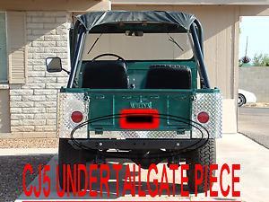 CJ5 UNDER TAILGATE COVER CJ2A WILLYS CJ-5 LOOKS GREAT BETWEEN CORNER GUARDS