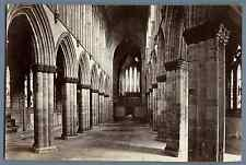 J.V., UK, Glasgow Cathedral. The Nave looking east   Vintage albumen print. Jame