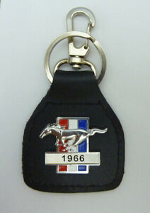 1966  Ford Mustang Real Leather Keyring / Keyfob