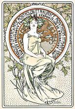 Banquet Offert à Mrs de Montholon et Maurice Monthiers Mucha  Deco  Poster Print