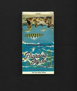Vintage Piscadera Bay Club Hotel Curacao West Indies Matchbook Unused FS