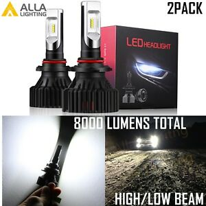 Alla Lighting LED 9012 hd-light  Bulb Lamp hi   lo  Beam hd-lamp  6000K White