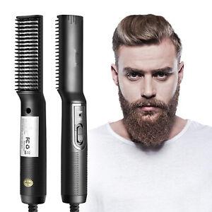 Beard Straightener for Men-Ceramic & Ionic Beard Brush for Men with Fast Heating