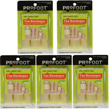 """Profoot Care Toe Bandages, Medium, 4"""" Lengths, Extra Soft - 3 each (Pack of 5)"""