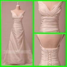 A-line Simple Wedding Dress W808