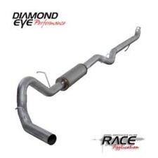 "Diamond Eye K4152S 4"" Single Exhaust System Turbo-back For Chevy/GMC 6.6L Diesel"