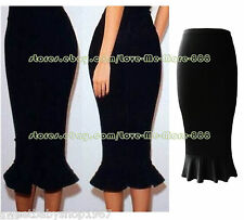 Womens Fish Tail Celebrity PARTY SHIFT Slim Fit bodycon Midi SkirtS DRESS LARGE