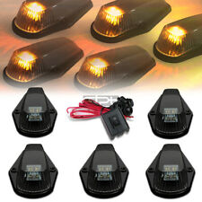 Fit 80-96 F-Series Pickup 5Pcs Smoked Yellow Led Cab Roof Running Lights+Switch