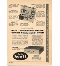1956 H. H. Scott Model 330 AM/FM Tuner Vtg Print Ad