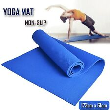 Extra Thick 6mm PVC Yoga Gym Pilate Mat Fitness Non Slip Exercise Board Blue