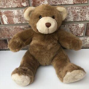 "Build A Bear Classic Brown Teddy Bear Plush 10"" Sitting Brown Nose Stuffed BAB"
