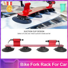 2 Bicycles Cycling Suction Holder Bike Rack Carrier Bracket Car Mounted Roof Top