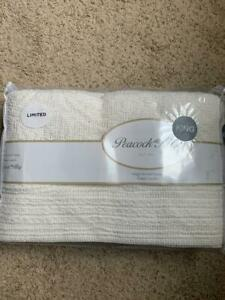 $395! NWT Peacock Alley Sado Crochet Ivory KING Coverlet - SOFT & GORGEOUS!