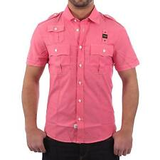 BLAUER USA Men's Short Sleeve Shirt CAMICIA in pink Size M