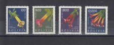 TIMBRE STAMP 4 BOLIVIE Y&T#218-21 PA  FLEUR FLOWER NEUF**/MNH-MINT 1962 ~B93