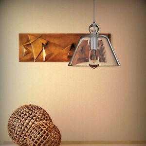 Clear Glass Pendant Light Kitchen Nordic Modern Bedroom Room Lamp 1/2/3 Pack