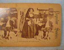 Stereoview Popular Series Answering The Advertisement Man Wife & Young Woman (O)