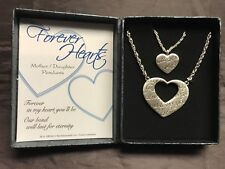 Forever Hearts Mother & Daughter Pendant Set of 2 - Brand New with Gift Box