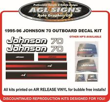 1995 1996 JOHNSON 70 HP OUTBOARD DECAL KIT reproductions 50 hp 60 hp