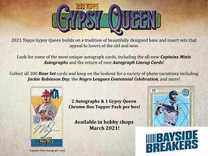 Kansas City Royals 2021 Topps Gypsy Queen Baseball Half Case (5 Box) Break #1