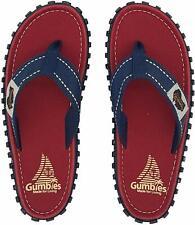 Gumbies - Islander Canvas Unisex Flip-Flops - Red Coast