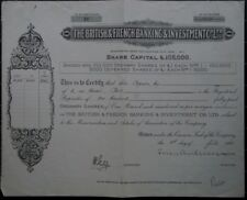 The British & French Banking & Investment Co. Ltd. - 1928