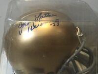 Johnny Lattner Notre Dame Autographed Mini-Helmet Heisman Inscription