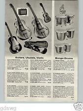 1960 PAPER AD Kay Spanish Electric Guitar Favilla Ukulele Bongo Drums