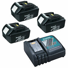 MAKITA LXT 240V DC18RC CHARGER WITH 3 x BL1830 BATTERIES