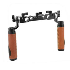 CAMVATE ARRI Rosette Handgrip Pair with 15mm  19mm Rod Clamp for Shoulder Mount