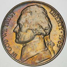 1965-P USA JEFFERSON NICKEL PROOF UNC GEM TONED CHOICE BU COLOR #15 (DR)