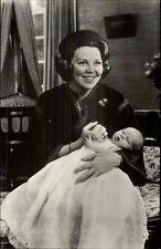 Netherlands Royalty Princess Prinses Beatrix & Baby Willem Alexander RPPC