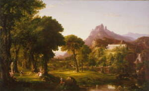 Thomas Cole Dream of Arcadia Poster Reproduction Paintings Giclee Canvas Print