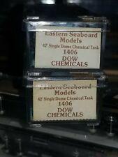 Eastern Seaboard Models n Scale -1406- 42' Single Dome Chemical Tank - Dow...