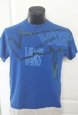 Vans Surfing Skateboard Beach Blue T-Shirt Medium Retro Vintage Print Rare