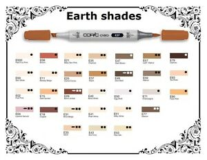 Copic Ciao Markers - Earth Shades - Refillable With Copic Various Inks