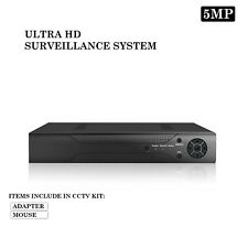 5MP 4 / 8CH CCTV System UHD DVR HD Outdoor Grey Camera Home Security With Cables
