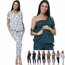 Zeta Ville Women's Maternity Breastfeeding Lounge Top Joggers Pyjamas Set 1024p