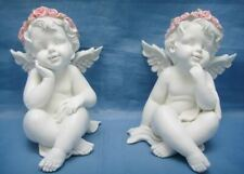 More details for pair of guardian angel figurine cherubs statue ornament sculpture gift