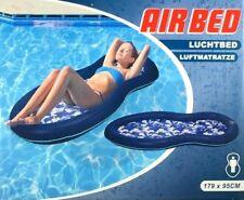 Luftmatratze Wasser 179x95cm Aqua Lounge mit Netzboden blau Wasserliege Pool