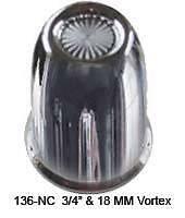 """CR PL 3/4"""" & 18mm Vortex Frame Bolt Lug Nut Cover (Pack of 20)"""