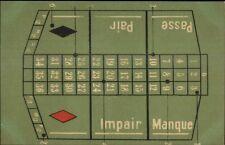 Gambling - Craps Table c1900 Postcard